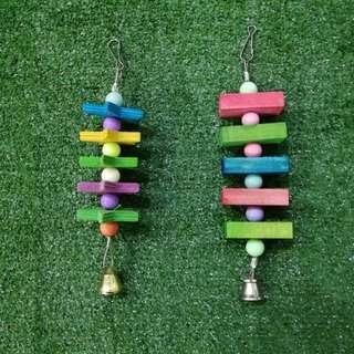Star & Rectangular Shaped Hanging Bird Toy
