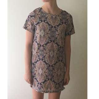 Patterned Floral Dress