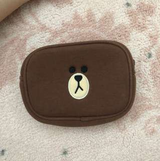 LINE Brown Bear Pouch