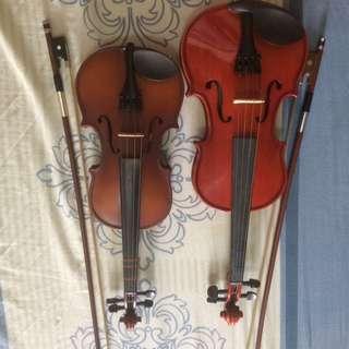 violins with case