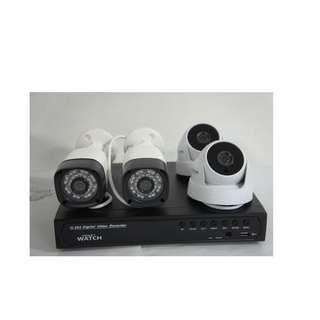 for sale Cctv package w 4pcs 2mp Camera Indoor / Outdoor