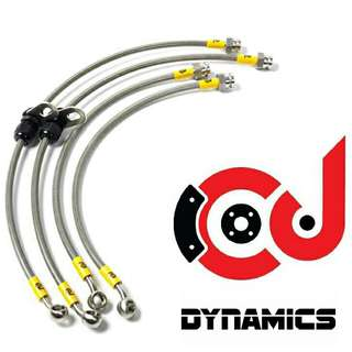 CJ Dynamics Stainless Steel Braided Brake Hoses .