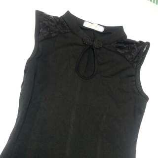 【S size/全新 】無袖長版/腰身洋裝