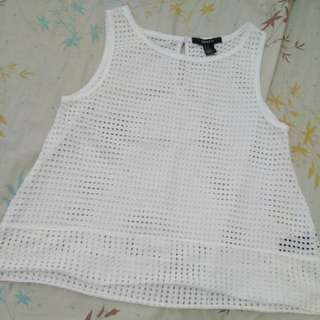 Authentic forever 21 perforated to M