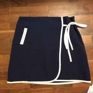 Navy tie skirt