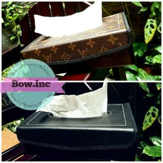 XMAS SALE - LEATHER TISSUE BOX