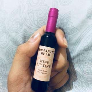 Romantic bear wine lip tint