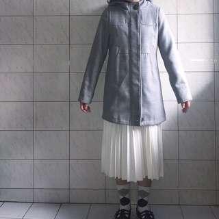 精選🛑灰色毛呢大衣 古著厚大衣🔥保證保暖🔥加厚日本纖維製作
