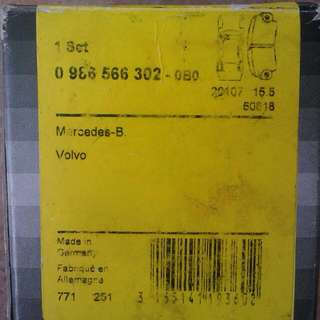 Mercedes W124/Volvo  Rear Brake Pad