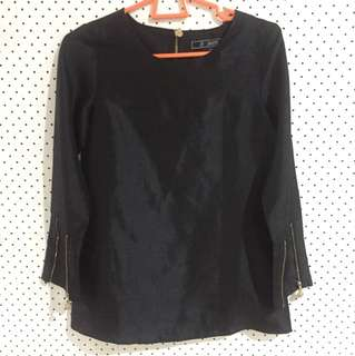 AERE URSA TOP IN BLACK