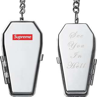 Supreme Coffin Ashtray Keychain