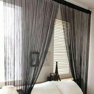 Plain string curtain buy1take1