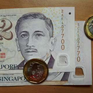 Singapore Currency with fancy number