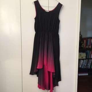 Waterfall ombré dress