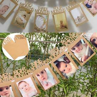 Baby's First Year Photo Banner