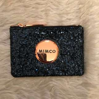 Mimco Small Pouch in Prussian Blue