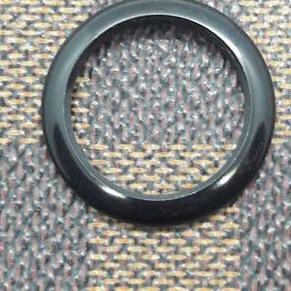 Gucci Black bezel metal ring