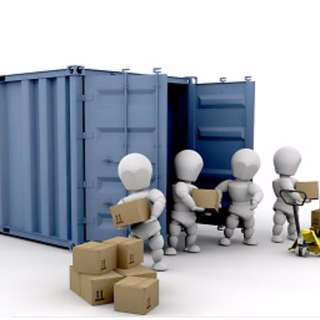Un-stuffing of 20 ft container only