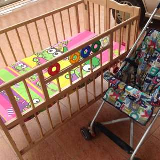 Katil baby free trolley baby