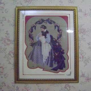 Framed Cross Stitch Mother & Child