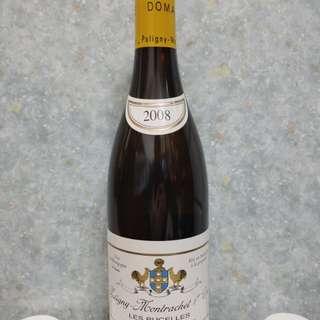 "White Wine Domaine Leflaive Puligny Montrachet 1er cru ""Les Pucelles"" France 2008"
