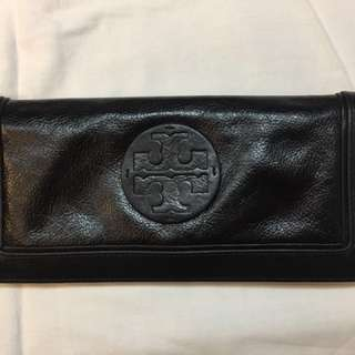 Tory Burch Black Leather Clutch