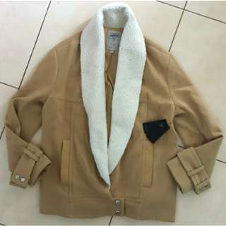 Guess Marciano Fur Trench Coat