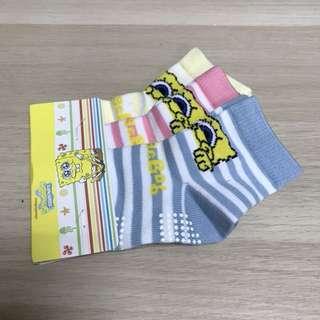 🚚 【全新】海綿寶寶女童襪子 一組3雙 85元 僅此一組
