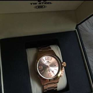 Bnwt & box Authentic TW STEEL Canteen CB402 Gold Rosegold Watch $475