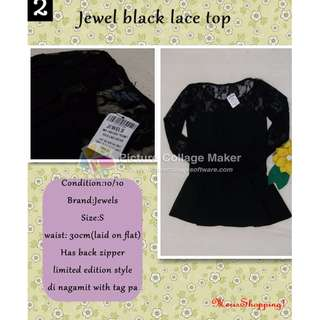 Jewel laced top^^