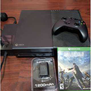 Xbox One 500GB Bought May 2017 from Microsoft with receipt rarely used. Free Final Fantasy and Additional 3rd party Battery
