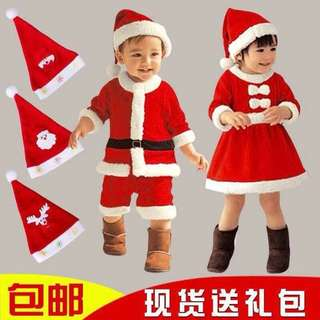 Santa dress for kids 1-6y/o