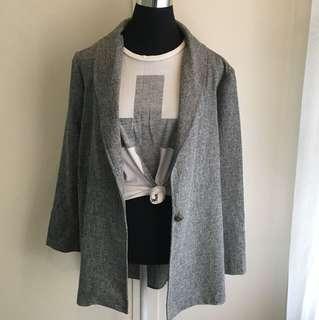 Oversize Grey Blazer