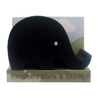 Elephant Coin Bank Stand (Black)
