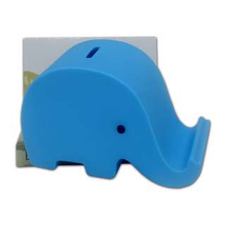 Elephant Coin Bank Stand(Blue)