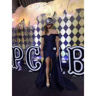 Navy blue gown