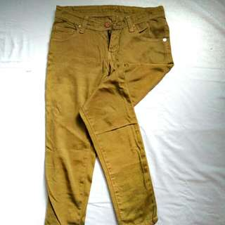 REPRICE!  HW jeans yellow tan