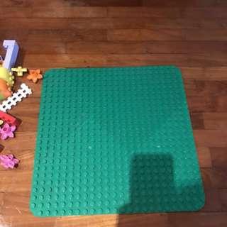 LEGO Duplo blocks and Large duplo green mat