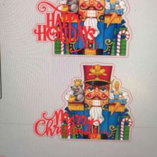 Layered personalised Christmas topper