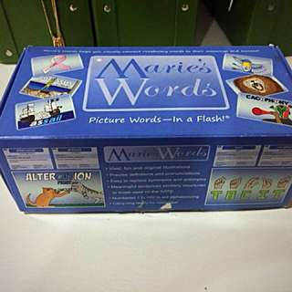 Marie words - flash cards for upper primary or Sec