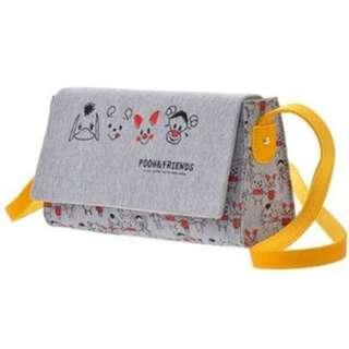 JAPAN DISNEYSTORE, JAPAN IMPORTED: Bag Series  - BEST FRIEND series Winnie the Pooh and Friends Sling Bag