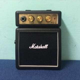 Marshall MS-2攜帶式迷你電吉他音箱 /電吉他音箱/黑色