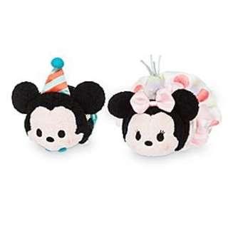 USA DISNEYSTORE, USA IMPORTED: SA Exclusive Series-  Birthday 2016 Mickey and Minnie Tsum Tsum set