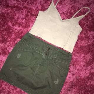 Tank top crop tee h&m