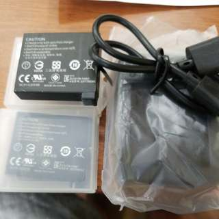 Gopro 4, 2 battary + charger AHDBT-401