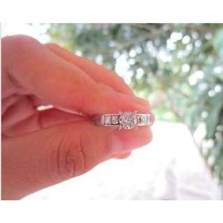 .61 Carat Diamond White Gold Engagement Ring 10K