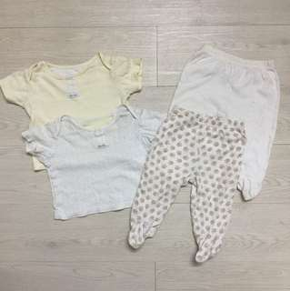 Mothercare 4 pc set baby clothing