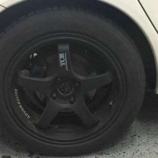 Advan racing 16inch rims and pilot sport 3 tyres for sale