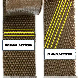 DEI Titanium Thermo wrap 50 mm x 2mm >> 10 meter   SLANT  pattern  / Twill Weave    model 40786