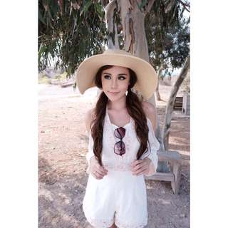 jumpsuit white lace